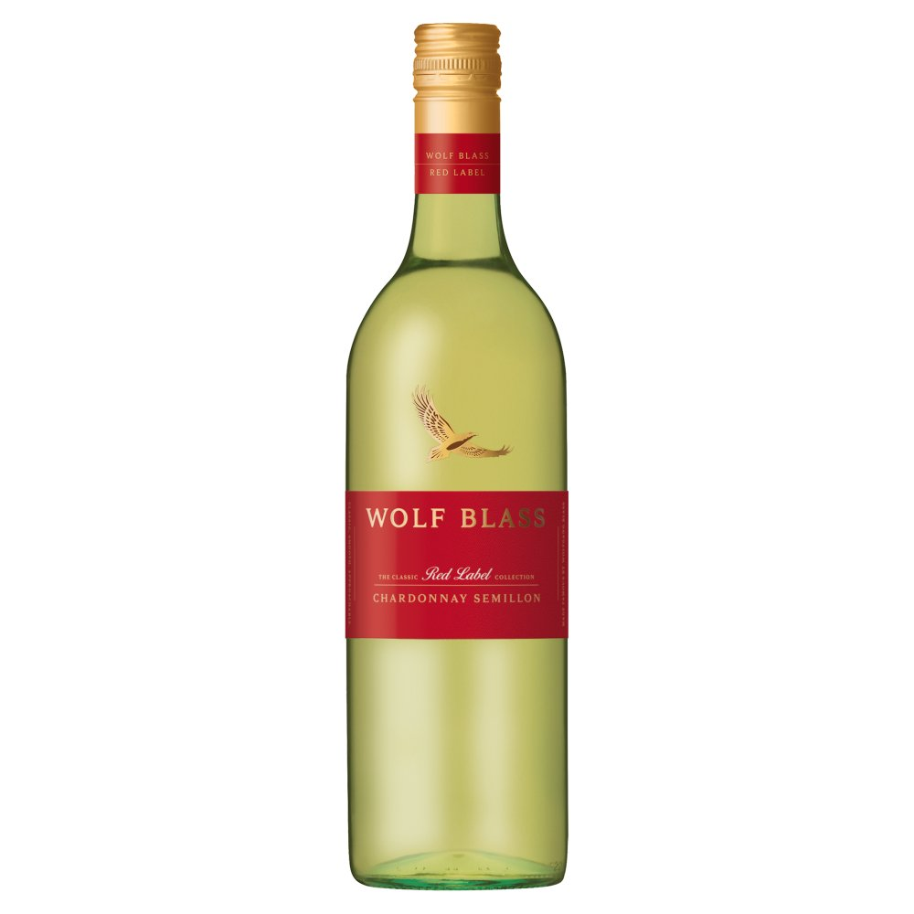 Wolf Blass Red Label Chardonnay Semillon 750ml (Screw Cap)