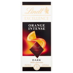 Lindt Excellence Dark Orange Chocolate Bar
