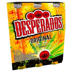 Desperados Tequila Lager Beer Bottle 3 x 330ml