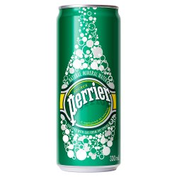 Perrier Natural Mineral Sparkling Water 33cl Slim Can