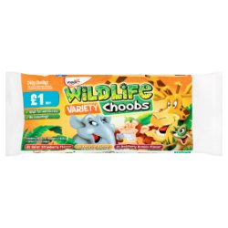Wildlife Variety Choobs Yogurt 6 x 40g