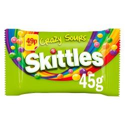 Skittles Sours £0.49 PMP Standard Single Bag 45g