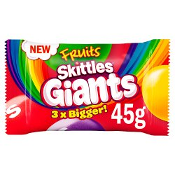 Skittles Giants Fruit Sweets Bag 45g