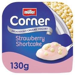 Muller Corner Strawberry Yogurt with White Chocolate Shortcake Balls 130g