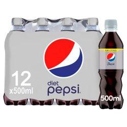 Pepsi Diet Cola 12 x 500ml