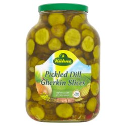 Kühne Pickled Dill Gherkin Slices 2450g