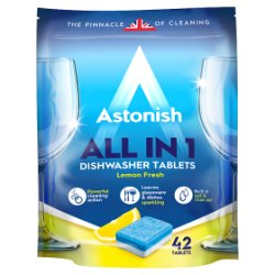 Astonish All in 1 Dishwasher Tablets Lemon Fresh 42 x 20g (840g)