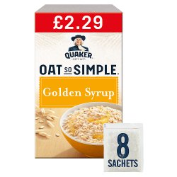 Quaker Oat So Simple Golden Syrup Porridge Sachets £2.29 RRP PMP 8x36g