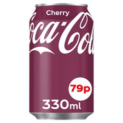 Coca-Cola Classic Cherry 330ml PMP 79p