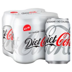 Diet Coke 4 x 330ml PMP £2.19