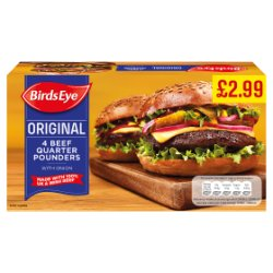 Birds Eye Beef Quarter Pounders GBP2.99