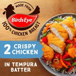 Birds Eye 2 Crispy Chicken in Tempura Batter 170g