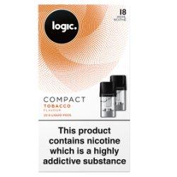 Logic Compact E-Liquid Pods Tobacco Flavour 18mg 2 x 1.7ml