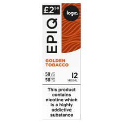 Logic Epiq Golden Tobacco 12mg/ml 50VG/50PG 10ml
