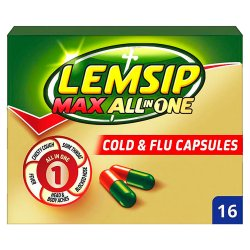Lemsip Max All in One Cold & Flu Capsules 16 Capsules