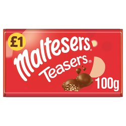 Maltesers Teasers Chocolate £1 PMP Bar 100g