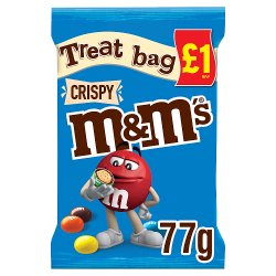 M&M's Crispy Chocolate Price Marked Treat Bag 77g