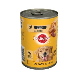 Pedigree Adult Wet Dog Food Tin Chicken in Gravy 400g