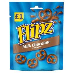 Flipz Milk Chocolate Coated Pretzels 80g