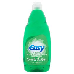 Easy Original Everyday Cleaning Power Washing Up Liquid Double Bubbles 500ml