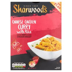 Sharwood's Chinese Chicken Curry with Rice 375g
