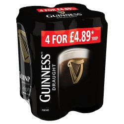 Guinness Draught 4X440ml PMP GBP4.89