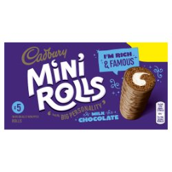 Cadbury 5 Milk Chocolate Mini Rolls