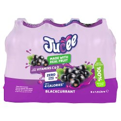 Jucee No Added Sugar Blackcurrant Cordial 8 x 1.5 Ltr