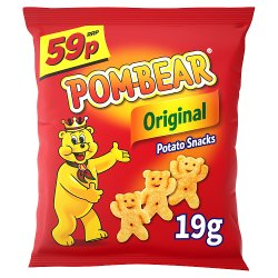 Pom-Bear Original Crisps 19g 59p PMP
