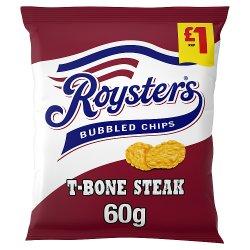Roysters T-Bone Steak Crisps 60g, £1 PMP