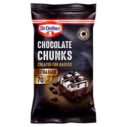Dr. Oetker Extra Dark Chocolate Chunks 100g