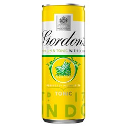 Gordon's London Dry Gin and Tonic with Elderflower 250ml
