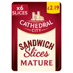 Cathedral City 8 Slices Mature Cheese PMP £2.19 150g