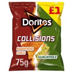 Doritos Collisions Habanero & Guacamole Tortilla Chips PMP 75g