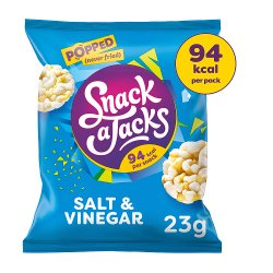 Snack A Jacks Salt & Vinegar Rice Cakes 23g