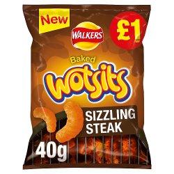 Walkers Wotsits Sizzling Steak Snack £1 PMP 40g