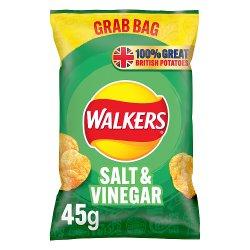 Walkers Salt & Vinegar Crisps 45g