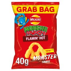 Walkers Monster Munch Flamin' Hot Snacks 40g