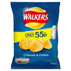 Walkers Cheese & Onion Crisps PMP 55p