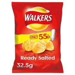 Walkers Crisps Ready Salted 55p