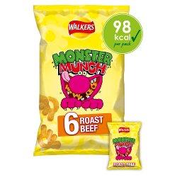 Monster Munch Roast Beef Snacks 6x22g