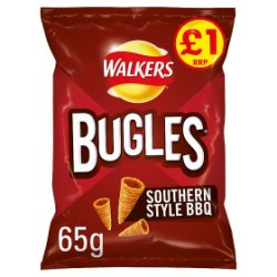 Walkers Bugles Southern Style BBQ Snacks PMP 65g