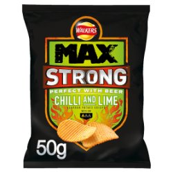 Walkers Max Strong Chilli & Lime Crisps 50g