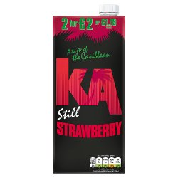 KA Still Strawberry Juice 1L, PMP £1.19 or 2 for £2