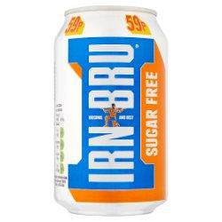 IRN-BRU Sugar Free 330ml Can, PMP 59p