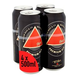 Bass Traditional Draught Ale Beer Cans 4 x 500ml