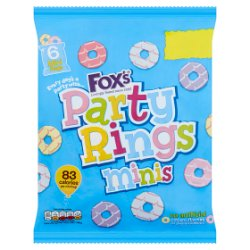 Fox's Party Rings Minis 6 x 21g