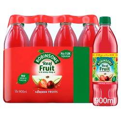 Robinson No Added Sugar Summer Fruits Squash 12 x 900ml