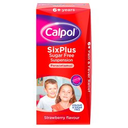 Calpol® SixPlus Sugar Free Suspension Strawberry Flavour 6+ Years 100ml