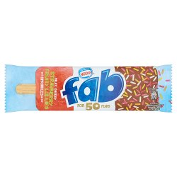 Nestlé Fab Strawberry Fruity Lollies 58ml